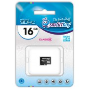 16GB Карта памяти MicroSDHC Smart Buy class 4