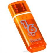 16GB USB Flash, Smart Buy Glossy оранжевый