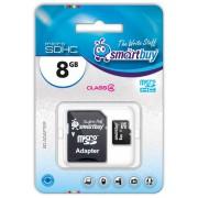 8GB Карта памяти MicroSDHC Smart Buy + SD адаптер class 4