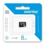 8GB Карта памяти MicroSDHC Smart Buy class 10