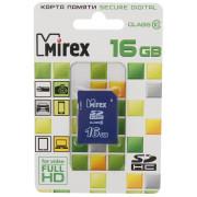 16GB Карта памяти SDHC MIREX class 10, 13611-SD10CD16