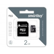 2GB Карта памяти MicroSD Smart Buy + SD адаптер
