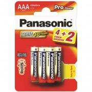 40972 Батарейка Panasonic Alkaline LR03 6BP 4+2