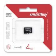 4GB Карта памяти MicroSDHC Smart Buy class 10