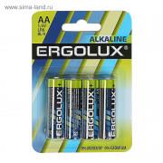 70983 Батарейка Ergolux LR6 Alkaline BL-4