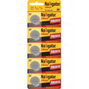 94764 Батарейка Navigator NBT-CR2025-BP5