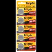 94766 Батарейка Navigator  NBT-CR2450-BP5