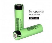 АКБ 18650 Panasonic 3.7V, 3400 mAh, NCR18650B, без защиты