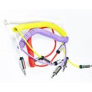 AUX аудиокабель 3.5мм - 3.5мм пружина