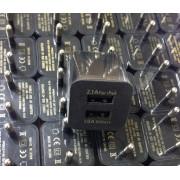 Адаптер сетевой СЗУ-2USB 2A/1A кубик черный