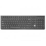 Беспроводная клавиатура USB Defender UltraMate SM-536 черная, полноразмерная, питание 2*ААА, 45536