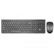 Беспроводной набор (клавиатура + мышь) Defender Columbia C-775 (RU) черный, мультимедийный, 45775
