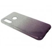 Чехол Honor 20S/20 Lite/Huawei P30 Lite/Nova 4E Shine (серебро/фиолетовый)
