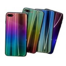 Чехол Samsung A20/A30/M10s Glass Rainbow 3D в ассортименте
