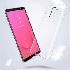 Чехол Samsung J810F Galaxy J8 2018 силикон прозрачный