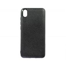 Чехол Xiaomi Redmi 7A Экокожа (черный)