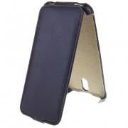 Чехол флип HTC Desire 610 кожа черный (открывается вниз)