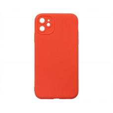 Чехол iPhone 11 Силикон Matte 2.0mm (красный коралл)