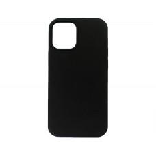Чехол iPhone 12 Mini Liquid Silicone FULL (черный)