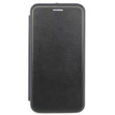 Чехол книжка Xiaomi Redmi 7A черный, открывается вбок