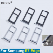 Держатель SIM Samsung G935F S7 Edge (2 SIM) золото