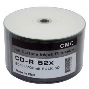 Диск CD-R 80 52x Printable (Full Ink) Bulk 50 (CMC)