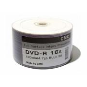 Диск DVD-R 4.7Gb 16x Printable (Full Ink) Bulk 50 (CMC)