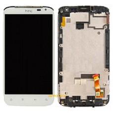 Дисплей - б/у - HTC Sensation XL с Beats Audio (PI39200) + тачскрин с рамкой белый