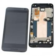 Дисплей HTC Desire 610 (D610w) + тачскрин в сборе с рамкой черный