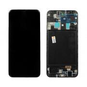 Дисплей Samsung A705FN Galaxy A70 + тачскрин + рамка черный (GH82-19747A) ORIG 100%