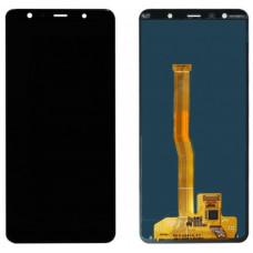 Дисплей Samsung A750F Galaxy A7 (2018) + тачскрин черный (GH96-12078A) ORIG 100%