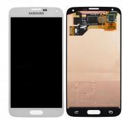 Дисплей Samsung G900F/G900H Galaxy S5 + тачскрин белый (GH97-15959A) ORIG 100%