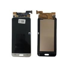 Дисплей Samsung J320F Galaxy J3 (2016) + тачскрин золотой TFT (Регулируемая подсветка)