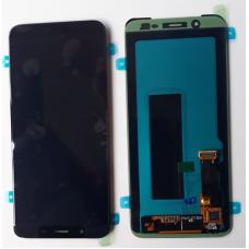 Дисплей Samsung J810F Galaxy J8 (2018) + тачскрин черный (GH97-22145A) ORIG 100%
