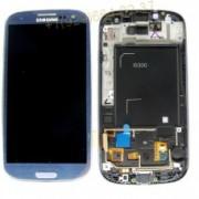 Дисплей Samsung i9300 Galaxy S3 + тачскрин + рамка синий Amoled (change glass)