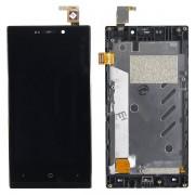 Дисплей б/у Highscreen Zera F (REV.S) + тачскрин + корпус черный