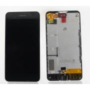 Дисплей б/у Nokia 630/630 Dual SIM/635 Lumia/RM-976/RM-978/RM-974 + тачскрин в сборе с рамкой оригинал