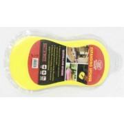 Губка XCM-881 для мойки автомобиля в вакуумной упаковке, желтая/3-21-5