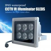 Инфракрасный прожектор Night Vision для камер видеонаблюдения, 8 ИК диодов, 12мм