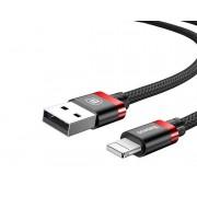 Кабель Baseus Golden Belt Apple 8pin - USB черно-красный