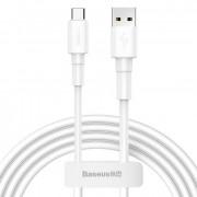 Кабель Baseus Mini white Type-C - USB белый 3A, 1м