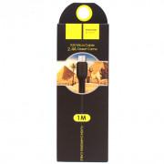 Кабель Hoco X20 microUSB - USB черный, 1м