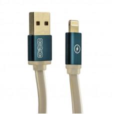 Кабель Lightning - USB плоский в ассортименте