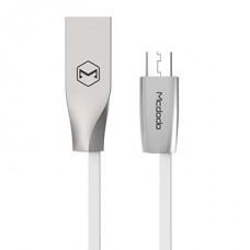 Кабель McDodo CA-1250 microUSB - USB белый, 1м
