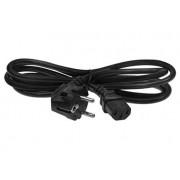 Кабель питания Cablexpert PC-184-ML12 Евро(CEE7/7)(m)->IEC320(C13)(m) 1,8м, чёрный