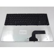 Клавиатура черная с черной рамкой для Asus K72F