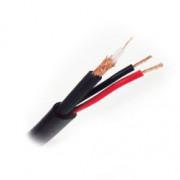 Коаксиальный кабель для видеонаблюдения STR КВК-Па-3 2х0,5 мм2, 200 м/рулон, 75 Ом