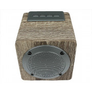 Колонка Wood 3080 коричневый (AUX/USB/microSD/Bluetooth/1200mAH/distance10m)