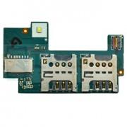 Коннектор SIM + SIM Sony C2305 Xperia C Dual на шлейфе