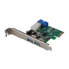 Контроллер PCI-E to USB 3.0 x 2, б/у